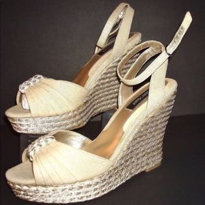 White wedges in size 8 from WHBM.